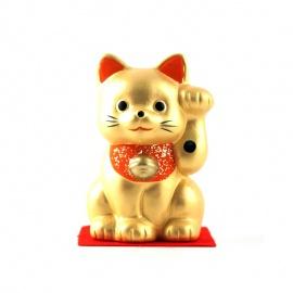 Gatto portafortuna Maneki-neko oro