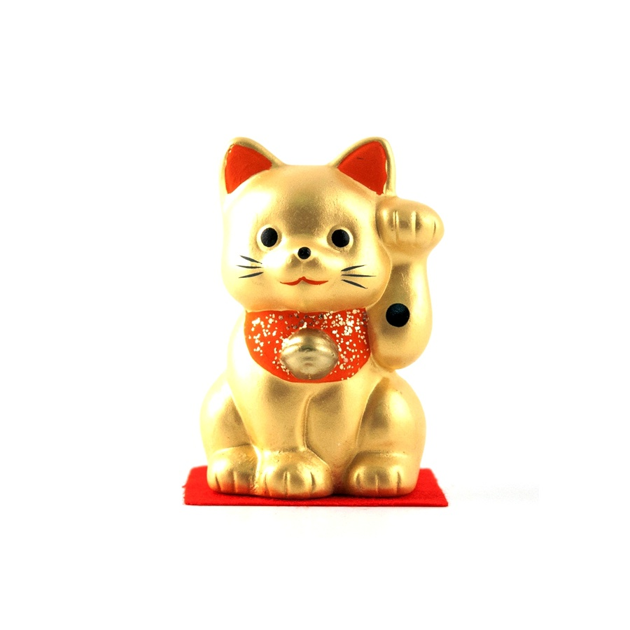 Gatto portafortuna Maneki-neko oro