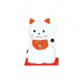 Gatto portafortuna Maneki-neko bianco