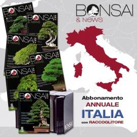ABBONAMENTO ANNUALE ITALIA CON RACCOGLITORE - BONSAI & NEWS
