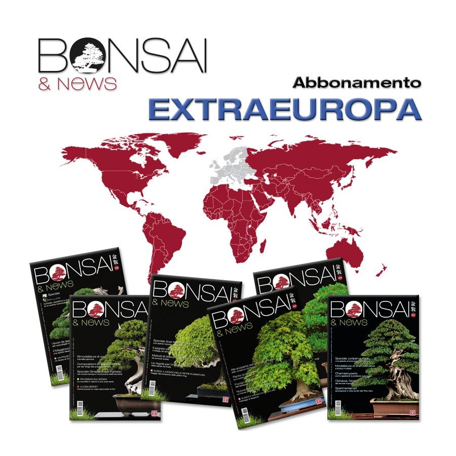 ABBONAMENTO ANNUALE EXTRA EUROPA - BONSAI & NEWS